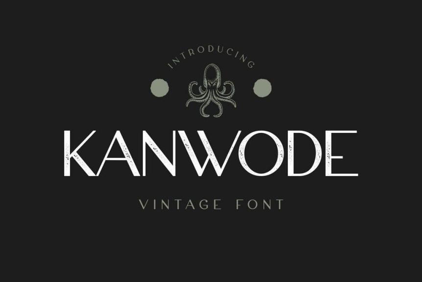 Kanwode Display Font