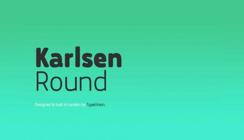 Karlsen Round Font Family