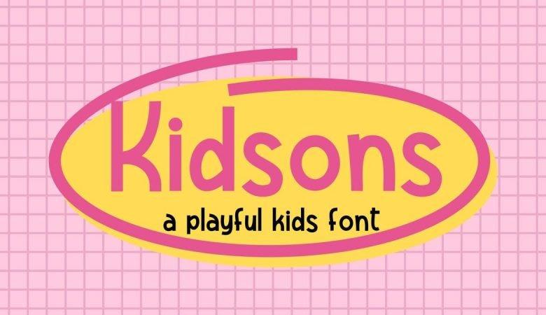 Kidsons Playful Font