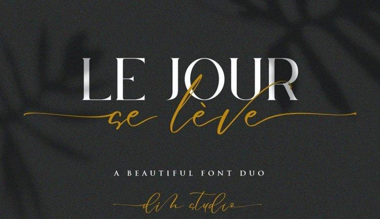 Le Jour - Font Duo