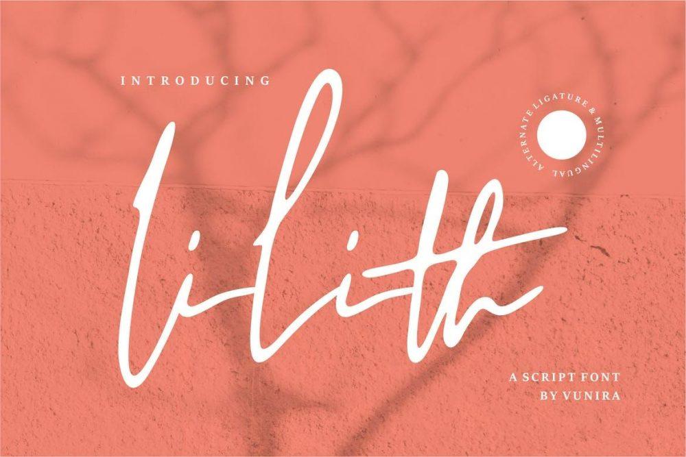 Lilith | A Script Font