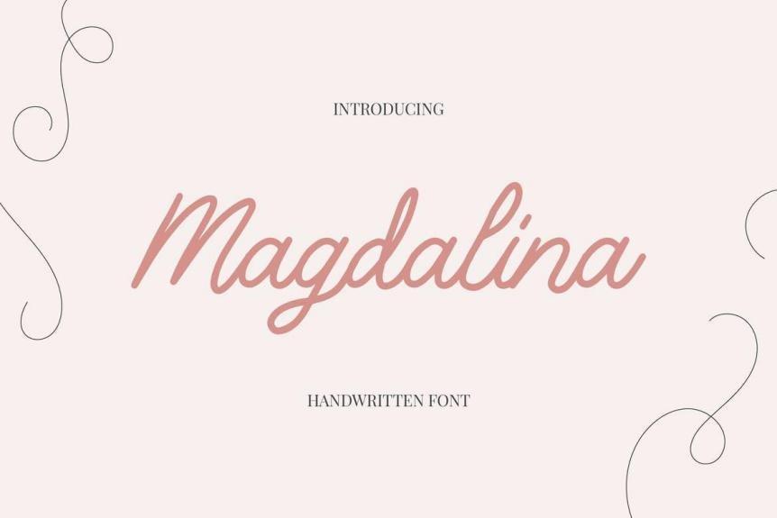 Magdalina - Handwritten Script