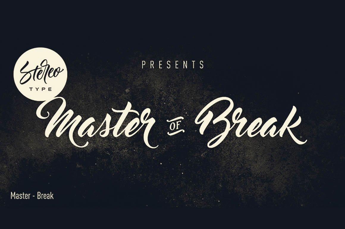 Master Of Break Font