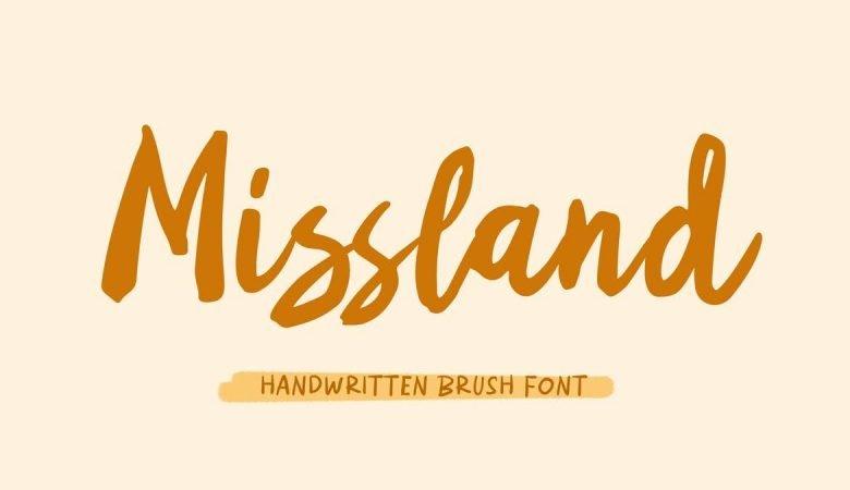 Missland - Handwritten Brush Font
