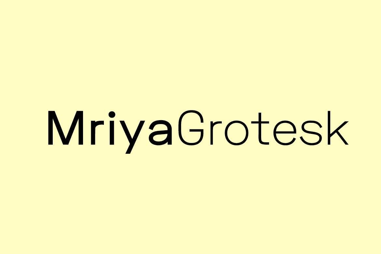 Mriya Grotesk Font