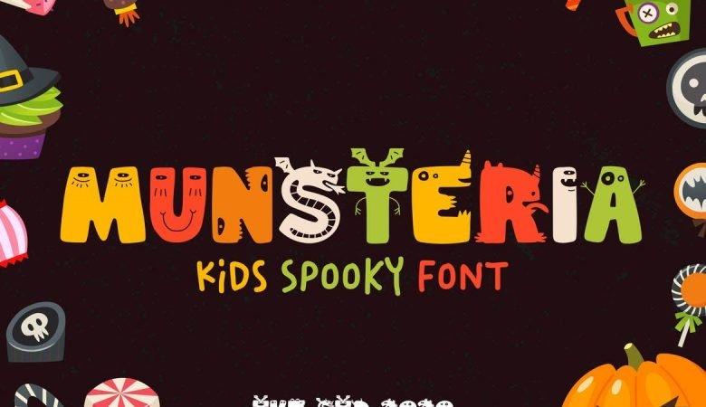 Munsteria - Kids Funny Monster Font
