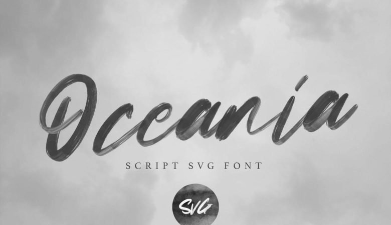 Oceania | SVG Script Font