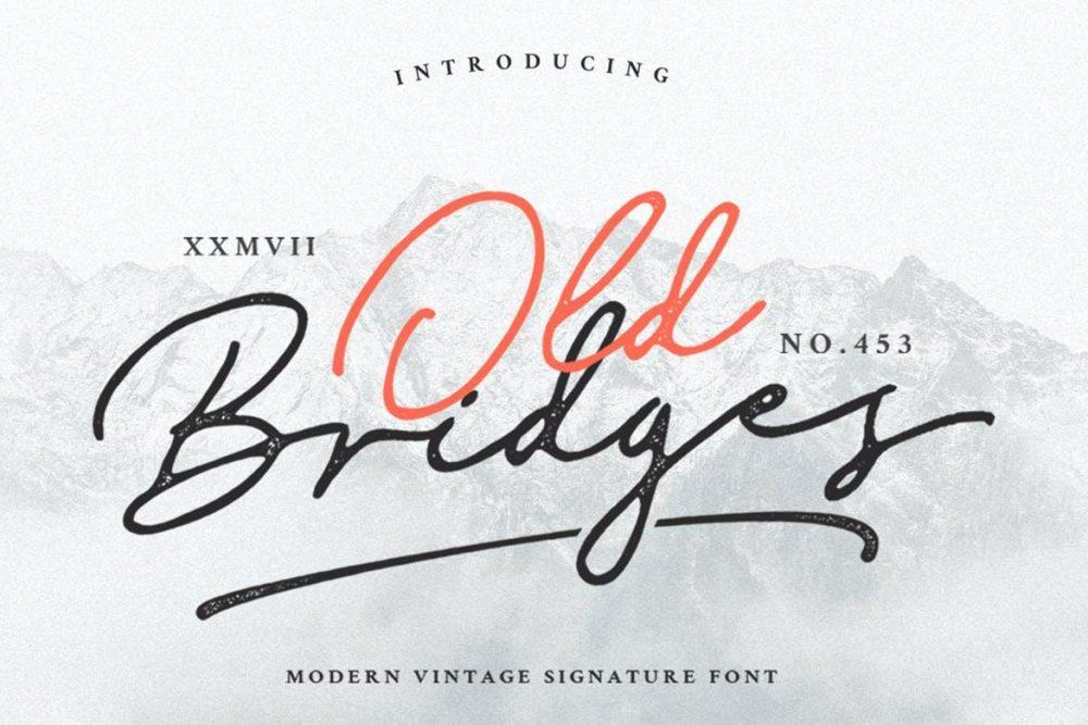 Old Bridges Vintage Script
