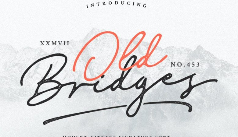 Old Bridges Vintage Script