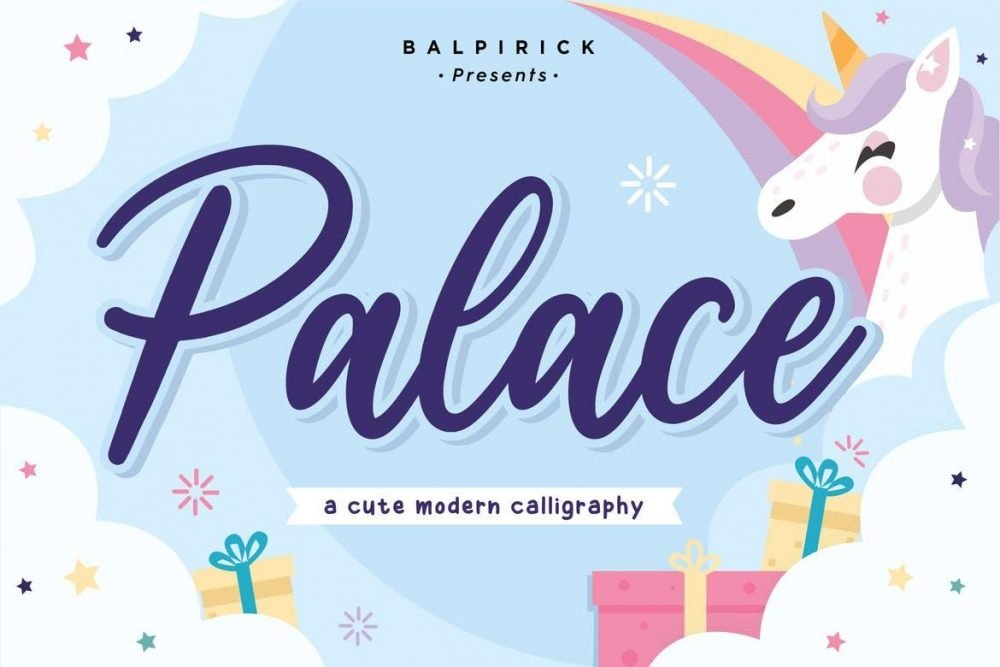 Palace YH - Bold Calligraphy Font
