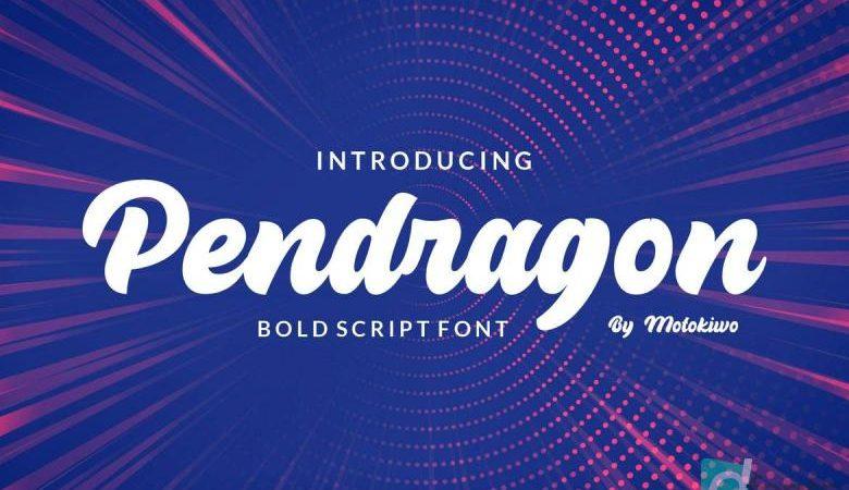 Pendragon - Bold Script Font