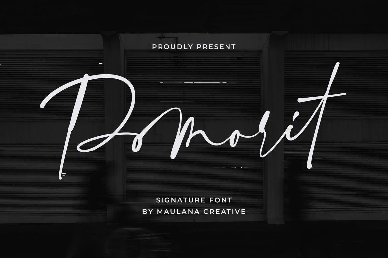 Pomorit Signature Font
