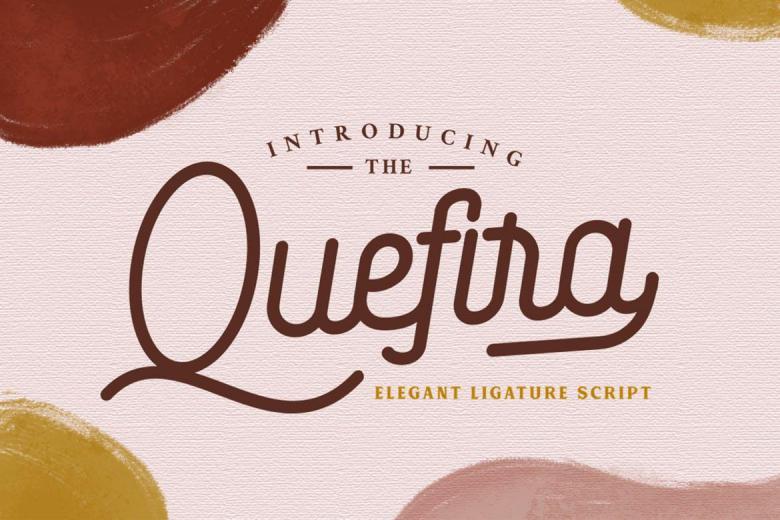 Quefira - Monoline Script Font
