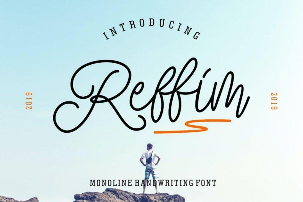 Reffim - Monoline Handwriting Font