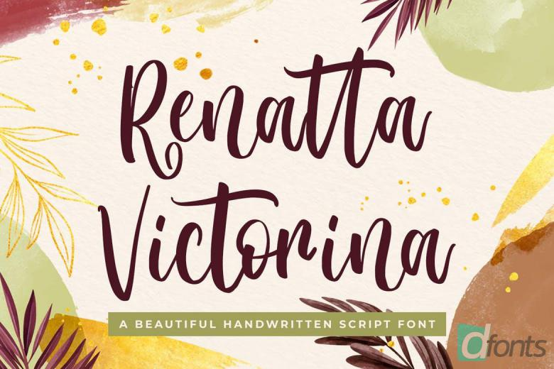 Renatta Victorina - Modern Script Font