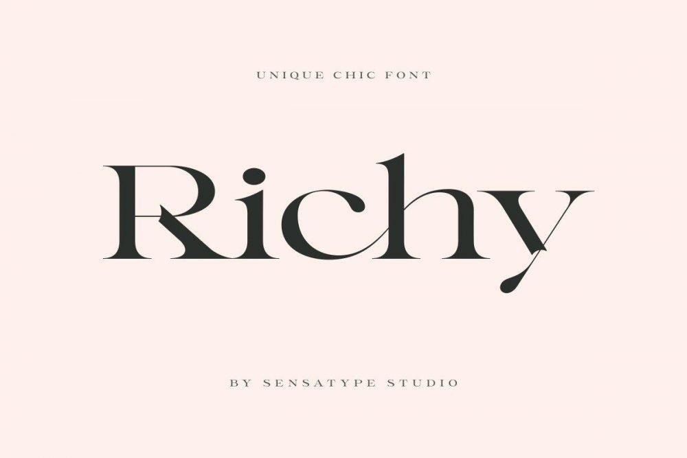 Richy - Unique Chic Font