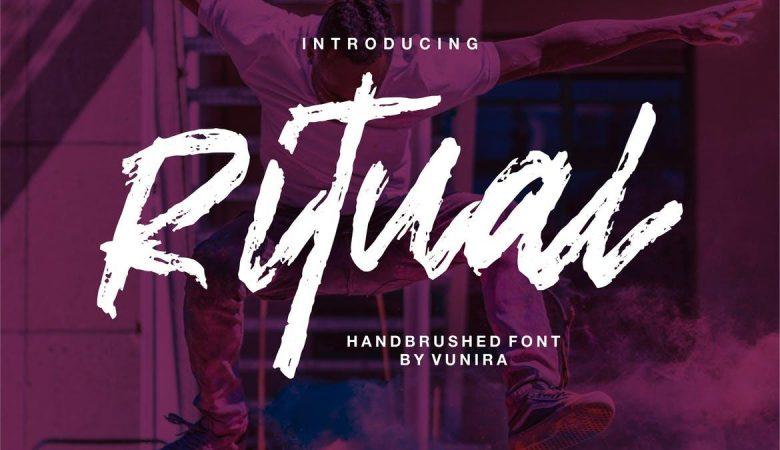 Ritual | Handbrushed Font