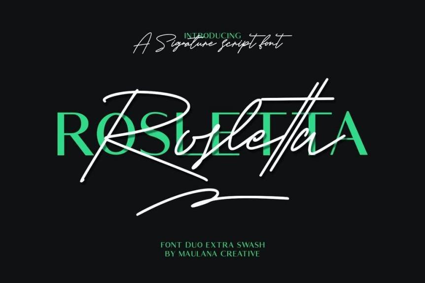 Rosletta Signature Font