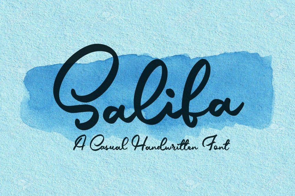 Salifa Script Font