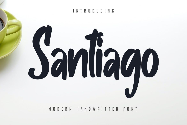 Santiago - Modern Handwritten Font