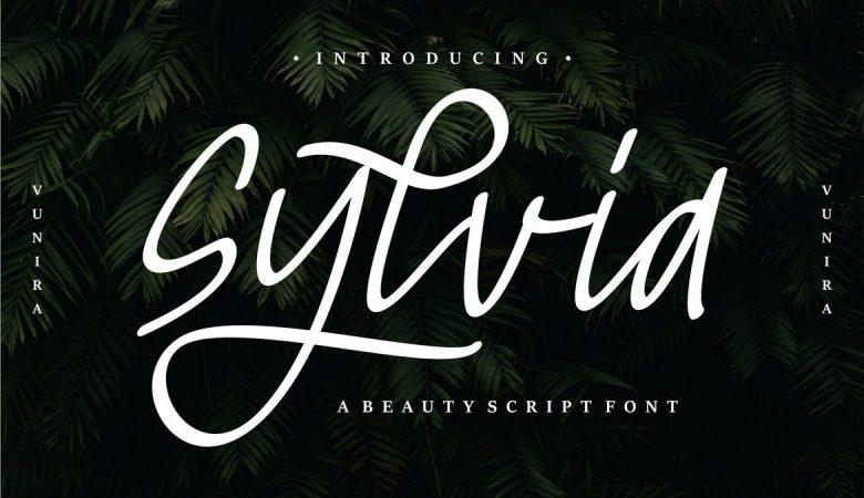 Sylvia Beauty Script Font