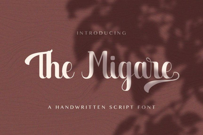 The Migare - Handwritten Font