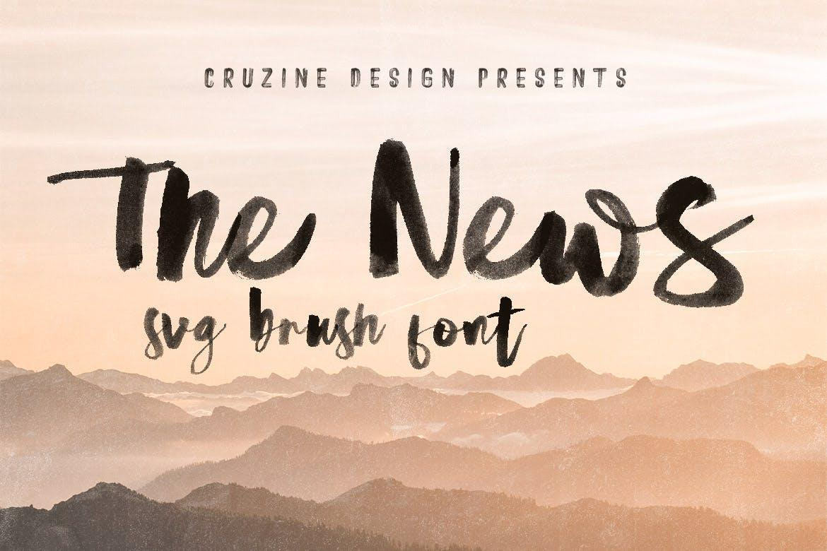 The News Brush & SVG Font