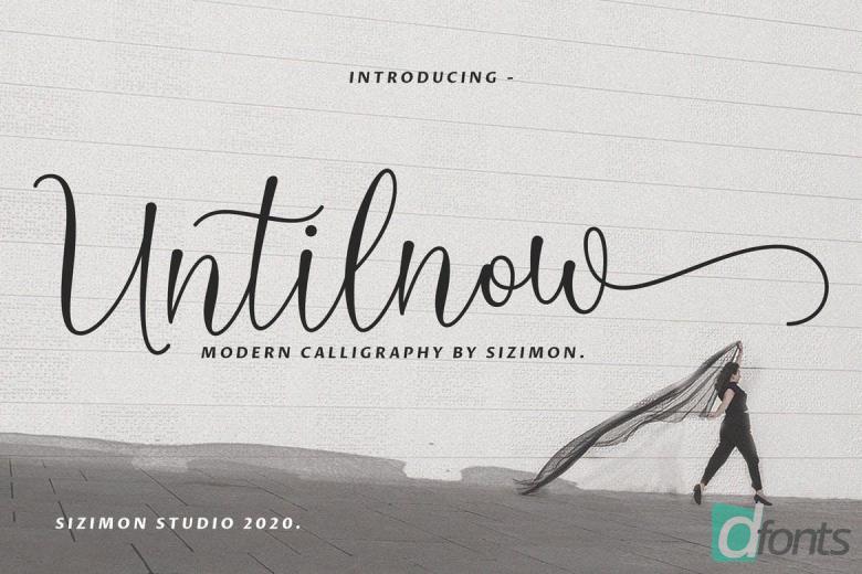 Untilnow Script Modern Calligraphy