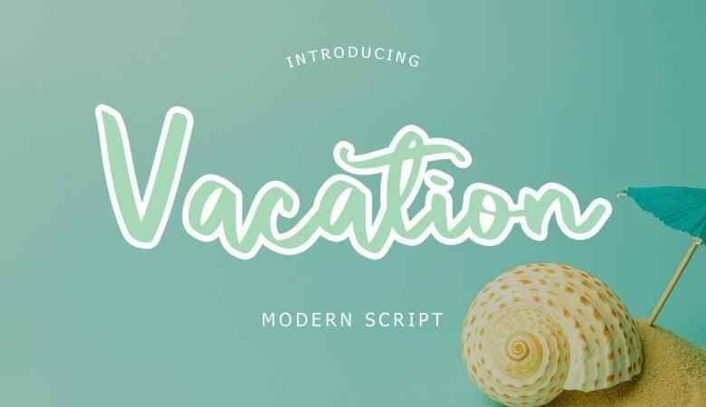 Vacation Modern Script Font