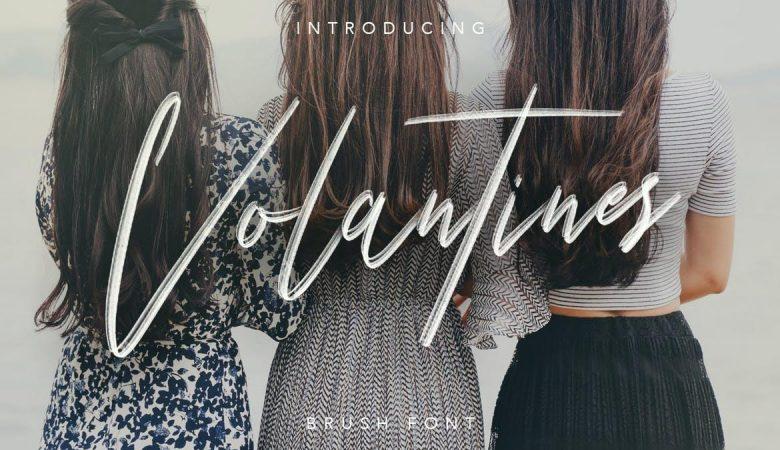 Volantines Brush SVG Font