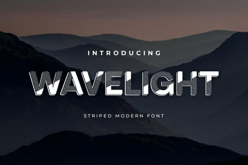 Wavelight Display Font