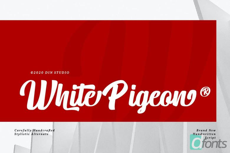 White Pigeon Font