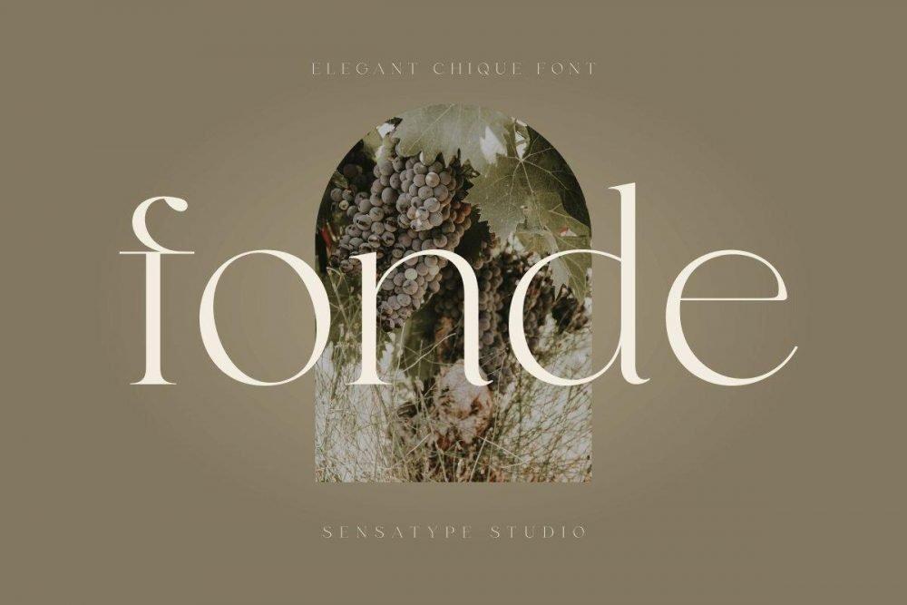 fonde - elegant chic font