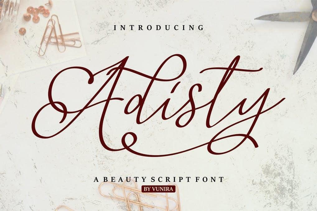 Adisty | A Beauty Script Font