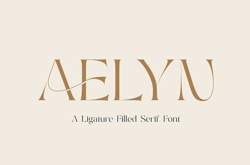 Aelyn - A Ligature Filled Serif Font