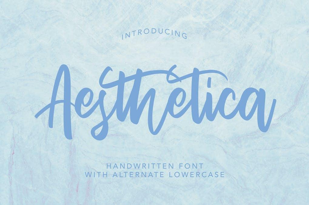 AesThetica - Handwritten Font