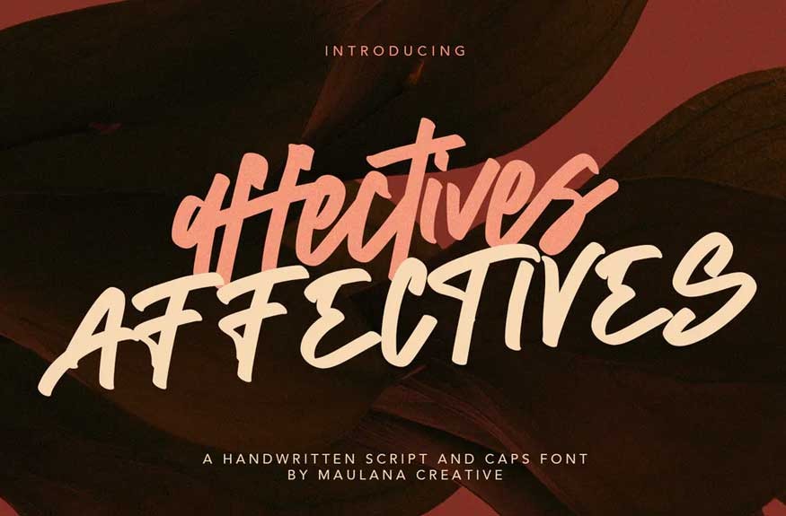 Affectives Handwritten Script Brush Font