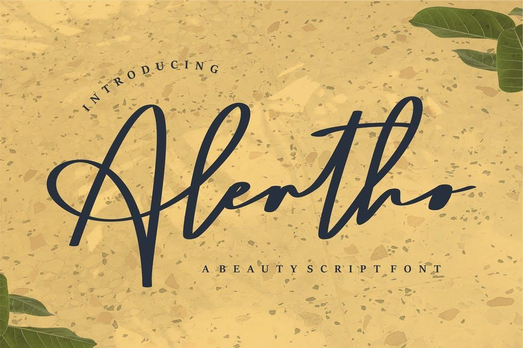 Alertho A Beauty Script Font