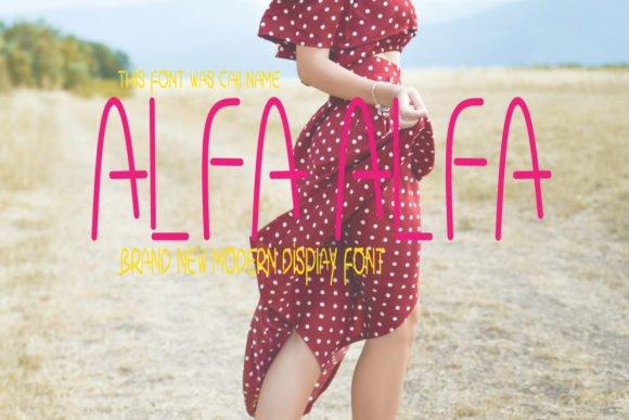 Alfa Alfa Font