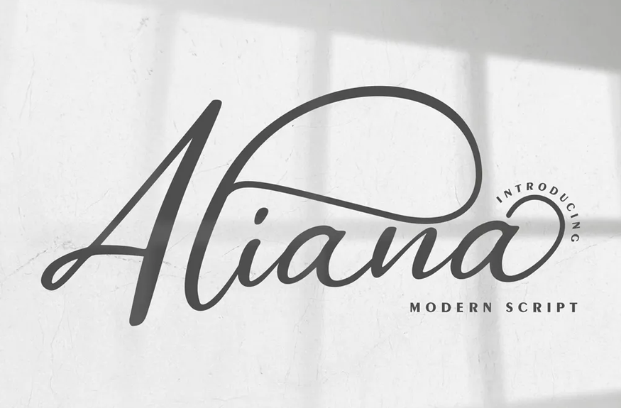 Aliana | Modern Script Font