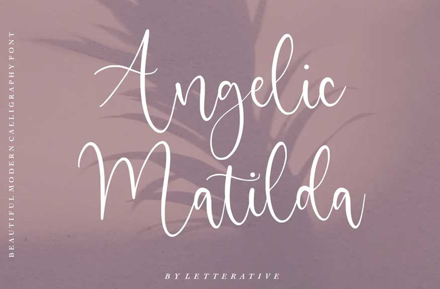 Angelic Matilda Script Font
