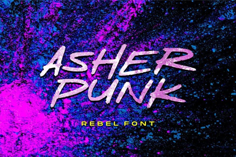 Asher Punk Font