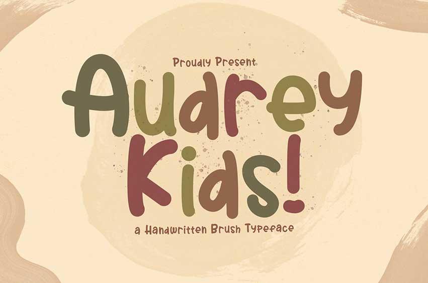 Audrey Kids - Playful Display Font