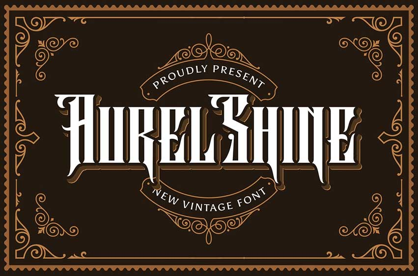Aurel Shine - Blackletter Font