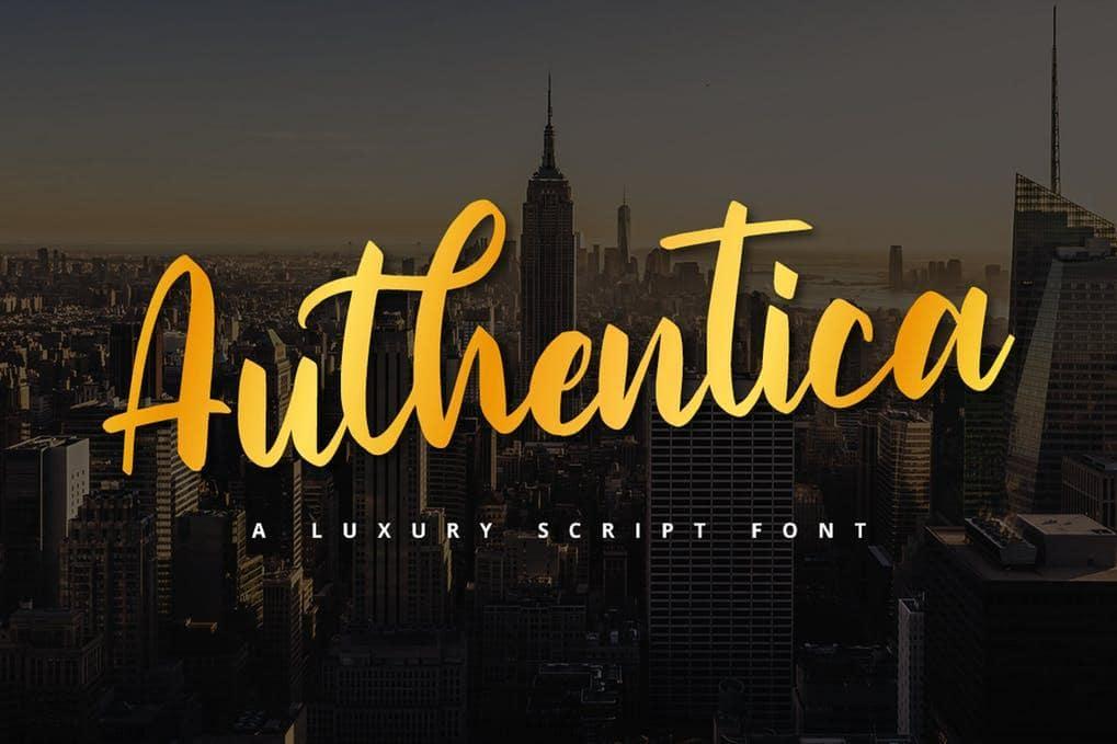 Authentica Script font