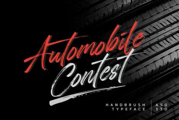 Automobile Contest Brush Font