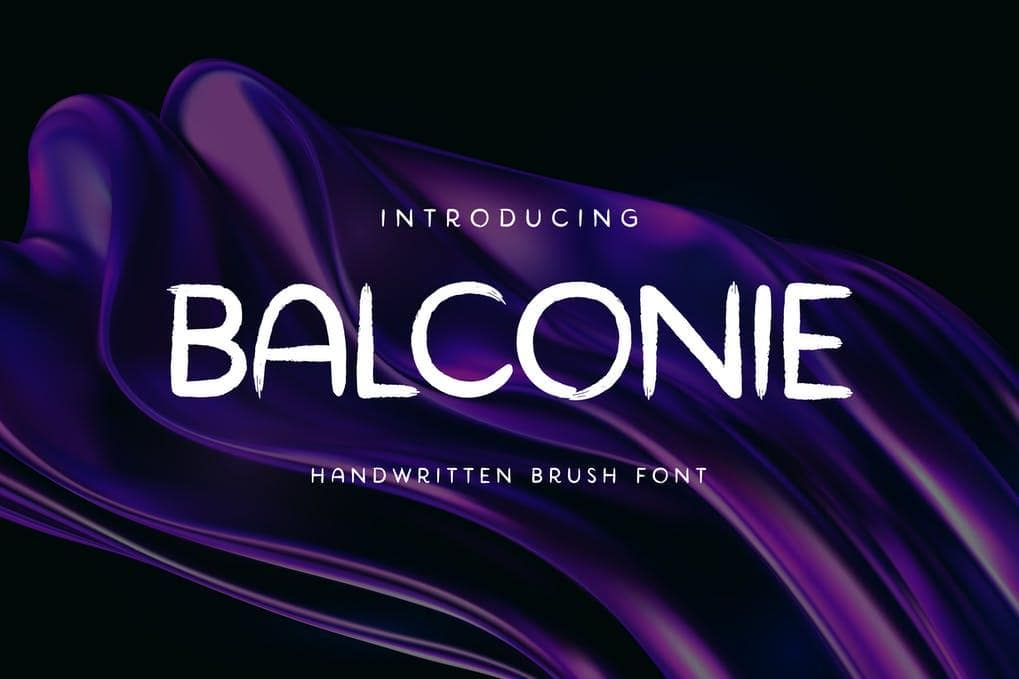 Balconie Brush Handwritten Font