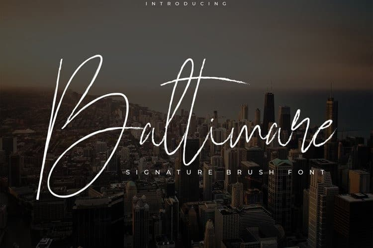 Baltimare Brush Font