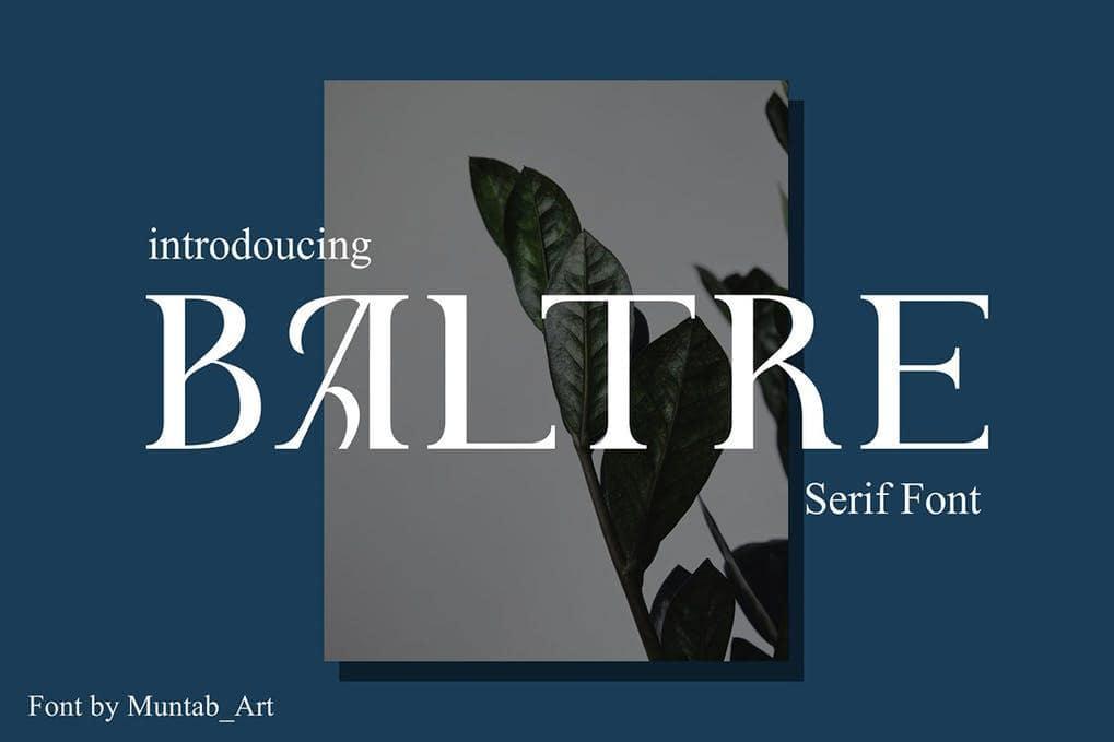 Baltre Modern Serif Font