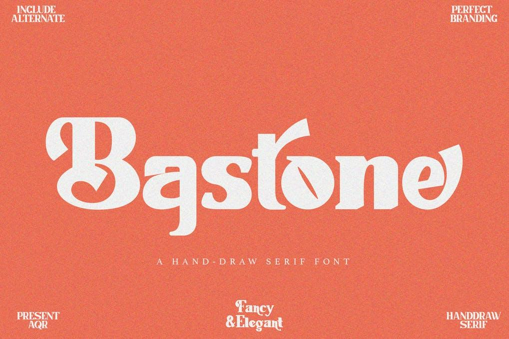 Bastone - Handdraw Serif Font